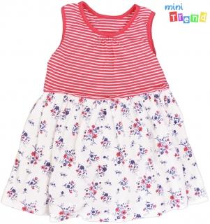 fbeab8e057 Matalan piros csíkos, virágos fehér ruha 80' 4-Hibátlan empty