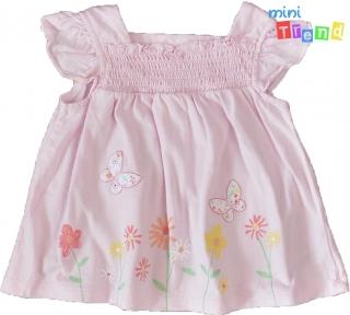 5550594f90 Nutmeg pillangos, virágos rózsaszín felső 68' 5-Újszerű empty