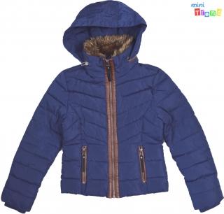 380482dd21 Coolcat kék közepesen vastag téli kabát, szőrmés barna bőr szegélyű 9-10év'  4 empty