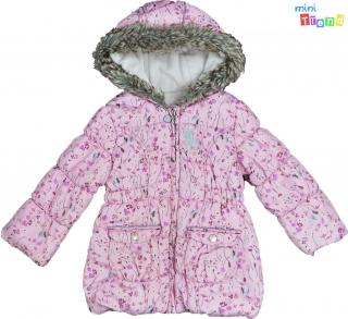 12cd8d41a1 Nutmeg rózsaszín virágos, belül polár téli kabát 2-3év' 4-Hibátlan empty