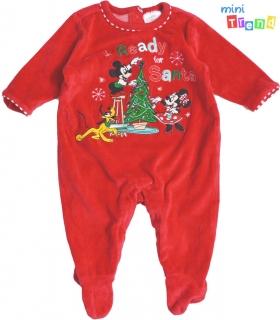 Disney karácsony mintás piros plüss rugdalózó 68  4-Hibátlan empty 60ab142474