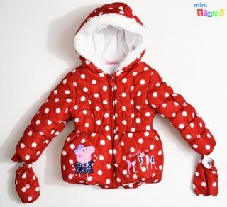 9ca88cdcf9 George Peppa piros pöttyös téli kabát 92' 4-Hibátlan(szálhúzódás) empty