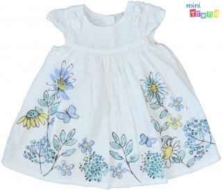 0e4084f8fc George kék virágos fehér 2rétegű pamutvászon ruha 68' 4-Hibátlan empty