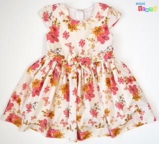 63cfc4dc22 Matalan rózsaszín-narancs virágos krém ruha 2-3év' 4-Hibátlan(pöttynyi empty