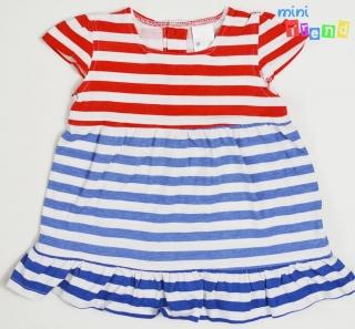 7165fb919a Zara piros-fehér-kék vékony pamut ruha 68' 4-Hibátlan empty