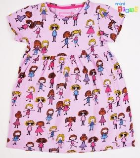 f1b6718365 Debenhams kislány mintás lila pamut ruha 4-5év' 4-Hibátlan(halvány folt  empty