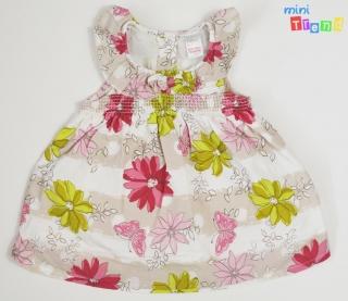 0a4b56cfff Next rózsaszín-zöld virágos drapp ruha 62' 4-HIbátlan empty