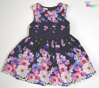 c5757e13b9 Debenhmas rózsaszín virágos sötétkék, alsószoknyás ruha 2-3év' 4-Hibátlan  empty